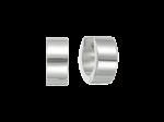 ZEG-06-E - Quoins huggie earrings of stainless steel