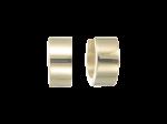 ZEG-06-G - Quoins huggie earrings of stainless steel