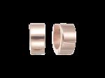 ZEG-06-R - Quoins huggie earrings of stainless steel