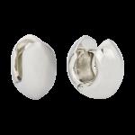 ZEG-08-E - Quoins huggie earrings of stainless steel