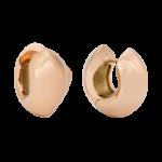 ZEG-08-R - Quoins huggie earrings of stainless steel