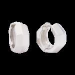 ZEG-09-E - Quoins huggie earrings of stainless steel