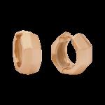 ZEG-09-R - Quoins huggie earrings of stainless steel