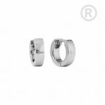 ZEG-10-E - Quoins huggie earrings of stainless steel