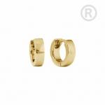 ZEG-10-G - Quoins huggie earrings of stainless steel