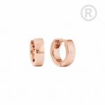 ZEG-10-R - Quoins huggie earrings of stainless steel