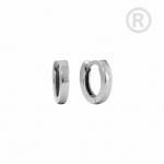 ZEG-11-E - Quoins huggie earrings of stainless steel