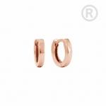 ZEG-11-R - Quoins huggie earrings of stainless steel