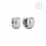 ZEG-12-E - Quoins huggie earrings of stainless steel