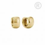 ZEG-12-G - Quoins huggie earrings of stainless steel