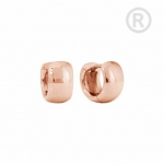 ZEG-12-R - Quoins huggie earrings of stainless steel