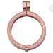 QHO-09-R - Quoins munthanger rosé- klikmodel - steentjes