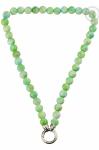 QK-J-GR - Quoins necklace Rainbow Jade Green