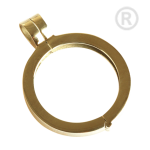 QHO-07-G - Quoins pendant, stainless steel gold plated QHO-07-G