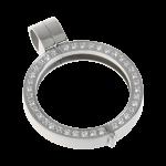 QHO-09-E - Quoins pendant, stainless steel + Swarovski stones QHO-06-E