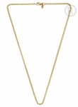 QK-EG6 - Quoins  box chain gold plated necklace QK-EG5
