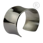 ZB-04-PE - Wide bracelets of stainless steel Gloss