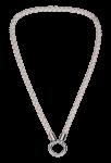 QK-L-W  - ketting van gevlochten leer wit QK-L-W