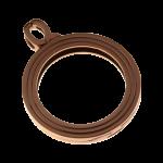QHO-15-B - munt hanger edelstaal bruin pvd verguld QHO-15-B