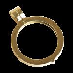 QHO-07-G - munt hanger edelstaal geel goud pvd verguld QHO-07-G