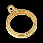 QHO-15-G - munt hanger edelstaal geel goud pvd verguld QHO-15-G