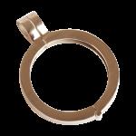 QHO-07-R - munt hanger edelstaal rosé goud pvd verguld QHO-07-R