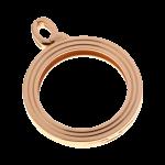 QHO-15-R - munt hanger edelstaal rosé goud pvd verguld QHO-15-R