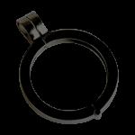 QHO-07-D - munt hanger edelstaal zwart pvd gerhodineerd QHO-07-D