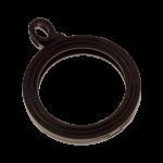 QHO-15-D - munt hanger edelstaal zwart pvd gerhodineerd QHO-15-D