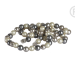 QK-P-G  - parel armband van Shell Pearl creme grijs QK-P-G