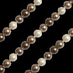 QK-P-C - parel collier van Shell Pearl creme bruin QK-P-C