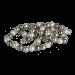 QK-P-G  - parel collier van Shell Pearl creme grijs QK-P-G