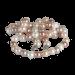 QK-P-R  - parel collier van Shell Pearl creme roze QK-P-R